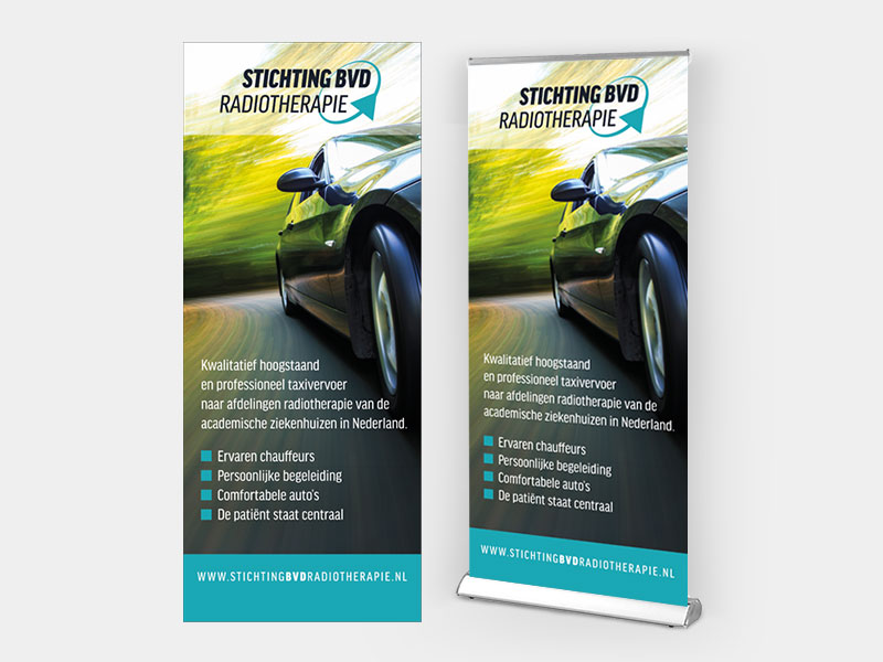 Roll-up banner Stichting BVD Radiotherapie
